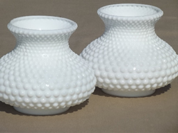 vintage milk glass lamps & shades