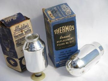01B & 31F replacement glass Thermos bottle liners in original old boxes