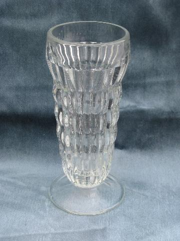 Fantastic 10 vintage ice cream soda, float or parfait glasses, heavy ribbed  ML52