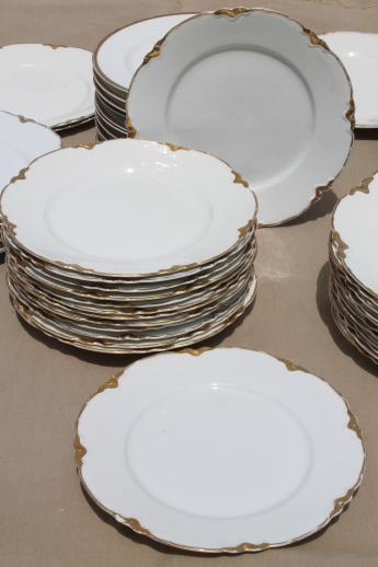 100 antique vintage mismatched china plates perfect for weddings pure white w/ gold mixed patterns & 100 antique vintage mismatched china plates perfect for weddings ...