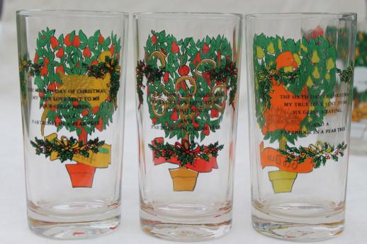 12 Days Of Christmas Drinking Glasses Set Vintage Anchor
