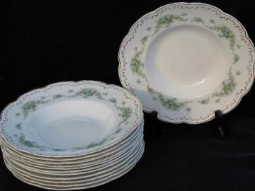 12 antique wedgwood china soup plates