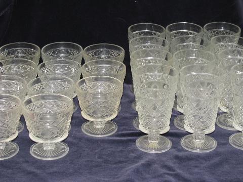 12 Sherbets And 12 Water Goblets Vintage Hazel Atlas