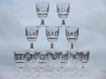 12 tiny glass goblets, sherry wine or cordial glasses, Lady Victoria?