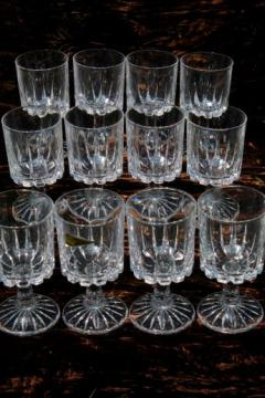 12 water glasses Zeus Royal Crystal Rock Italian lead crystal goblets RCR label