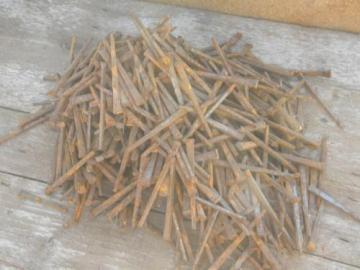 15LB lot primitive old square cut nails 2.5/3.5'' restoration hardware