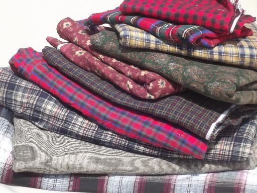 18 lbs cotton flannel fabric scraps, primitive country 'rag' quilt ... : primitive quilt fabric - Adamdwight.com
