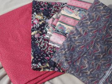 18 yds print cotton quilt fabric, floral prints quilting fabric lot