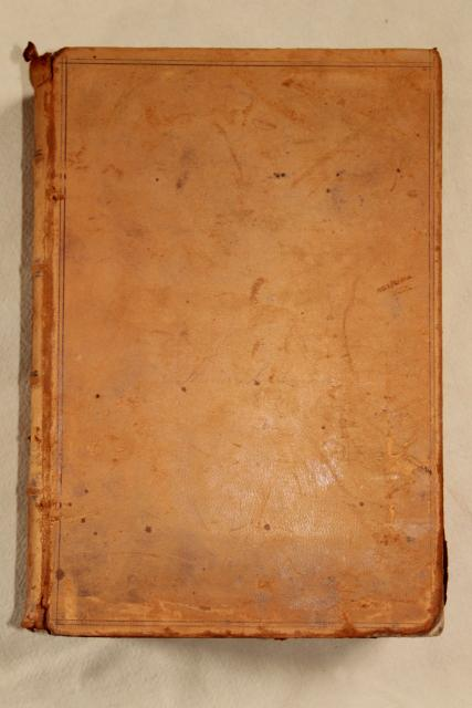 Book Cover Photography Prop : S vintage leather bound book shabby worn old antique