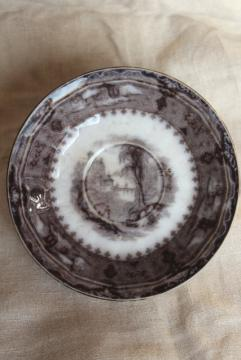 1860s flow black mulberry transferware saucer plate Vincennes Alcock - England & old u0026 antique transferware