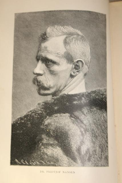1890s polar exploration Greenland history travel adventure w/ engravings antique book