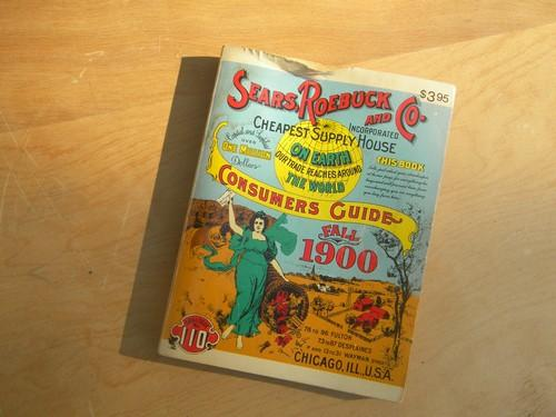 1900 vintage Sears, Roebuck & Co catalog w/1120 pages, 1970 reprint