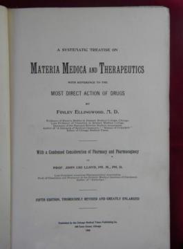 1905 Materia Medica Therapeutics and Pharmacognosy, antique medical text