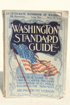 1910 Washington DC map & guidebook, antique vintage advertising & area photos