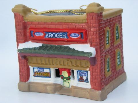1910 and 1930 kroger grocery stores 1990s krogers christmas ornaments - Kroger Christmas Hours