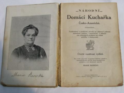 1914 vintage Czech cook book, Domestic Cooking, ethnic recipes