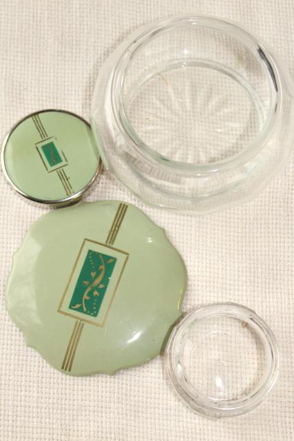 1920s 1930s Vintage Jadite Green Early Plastic Celluloid