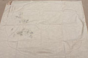1920s 30s flapper vintage flowered capelet to embroider, make-up cape stamped to stitch