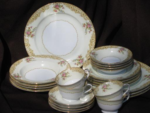 1920s 30s Vintage Noritake Ashford Hand Painted China