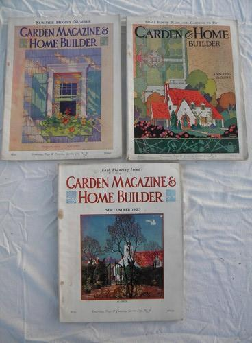 1920s Bungalow Vintage Home Builder Garden Magazines Plans