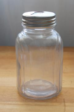 1920s or 30s vintage fruit jar or bottle, art deco shape w/ two part Presto lid