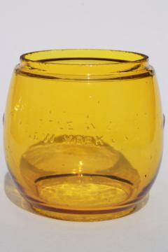 1920s vintage Dietz Little Wizard lantern globe shade safety light amber yellow
