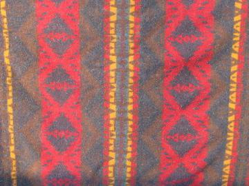 1920s vintage Pendleton label wool indian camp blanket, soft & thick