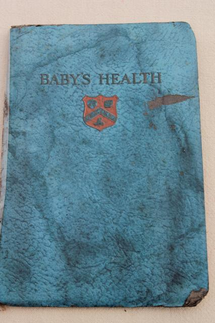 1920s vintage booklet baby care & health w/ great old ad graphics & artwork, lots of babies