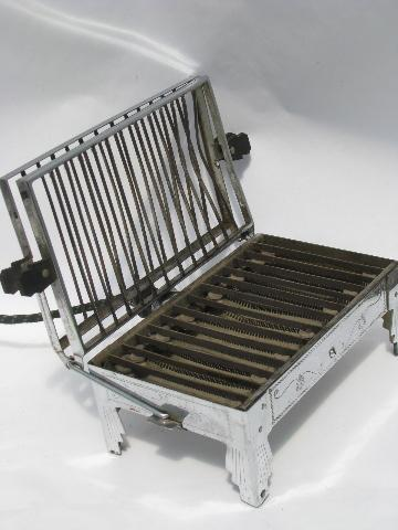 1920s vintage chrome Sunbeam early electric table cooker, stove grill toaster