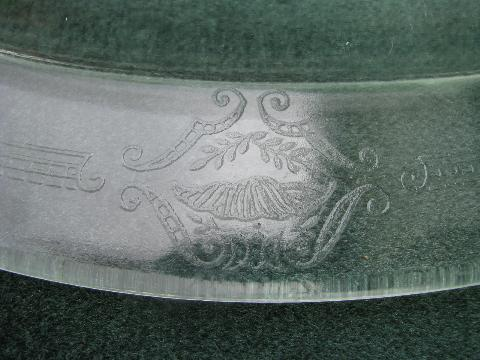 1920s vintage kitchen glass meat platter w/ drippings well, Glasbake philbe