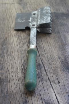 1920s vintage kitchen mallet, ice axe or meat tenderizer / cleaver, weird old tool