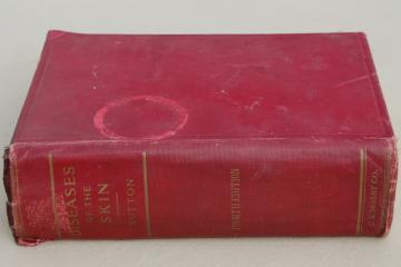 1920s vintage medical textbook, Diseases of the Skin, gruesome photos