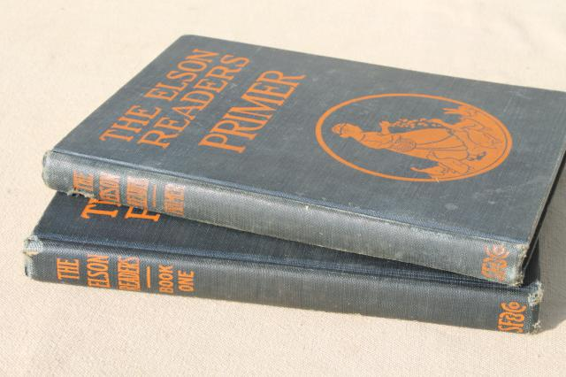 1920s vintage reading primer & early reader book one Elson Readers w/ lovely old pictures