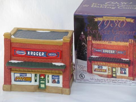 & 1930 Kroger light-up grocery store for lighted Christmas village