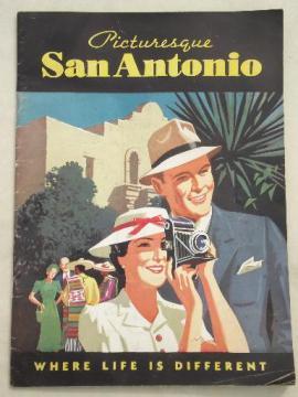 1930s San Antonio Texas booklet, vintage municipal promotional info & photos