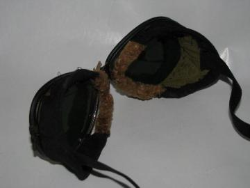 1930s World War II vintage motorcycle/pilot flying or driving goggles