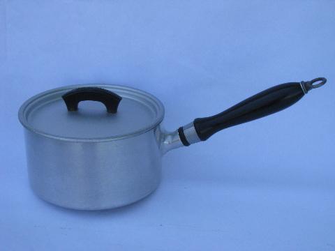 1930s Deco Vintage Wearever Aluminum Cookware Sauce Pans