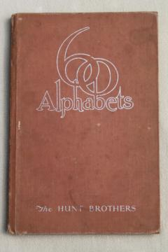 1930s deco vintage book 60 Alphabets, for typography lettering, artists & designers