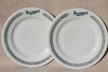1930s gangster vintage Chicago restaurant china plates Messingeru0027s lunch counter & old u0026 antique china plates u0026 dishes