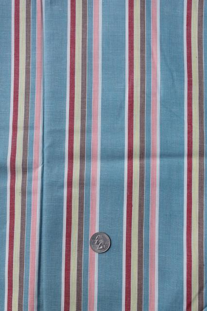 1930s or 40s vintage fabric, candy striped cotton shirting, dapper