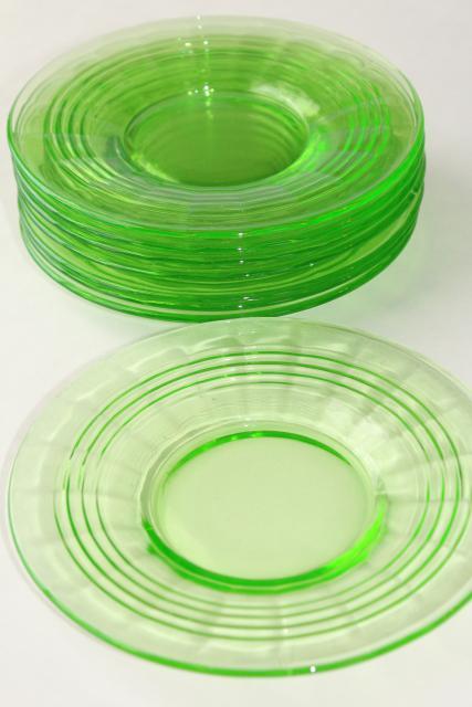 Anchor Hocking Green Depression Glass Patterns