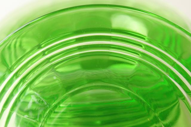 1930s Vintage Anchor Hocking Green Depression Glass Plates