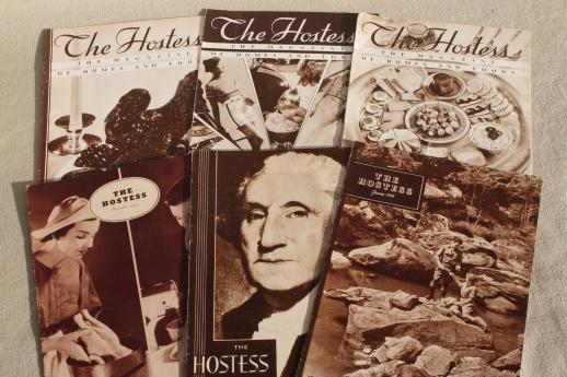 1930s vintage Batavia Store The Hostess magazines w/ cooking & recipes