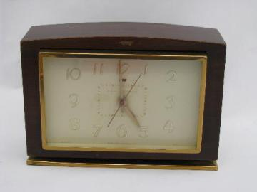 1930s vintage GE model 7H188 electric alarm clock w/label and 1935 patent number