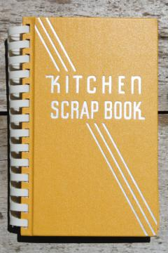1930s vintage blank book for recipes & clippings, deco Kitchen Scrapbook cook book