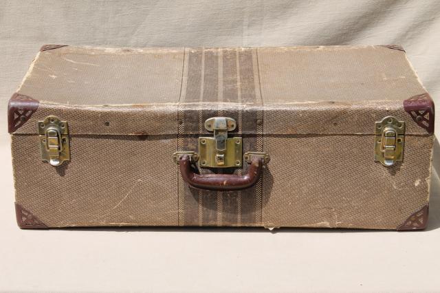 Cardboard Vintage Suitcase