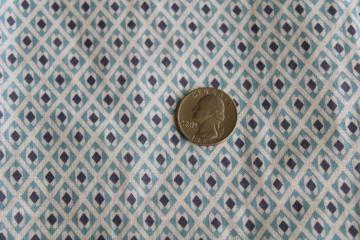 1930s vintage cotton fabric w/ blue & black print, depression era quilting material
