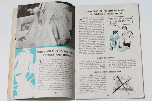1930s vintage homekeeping booklet Modern Home Laundering, wash day collectible w/ laundry helps