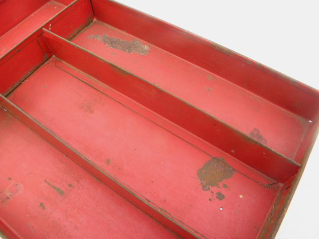 1930s vintage metal drawer tray / flatware box for knives, kitchen utensils