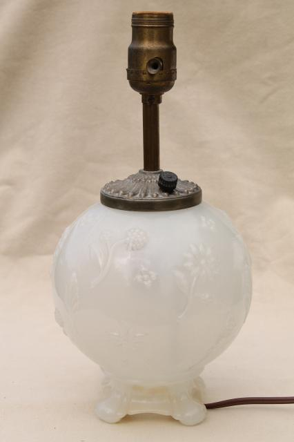 Vintage White Table Lamp Base Lamp Decorating Ideas